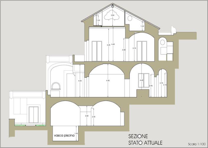 Splendida italia palazzo positano for Piante ville moderne